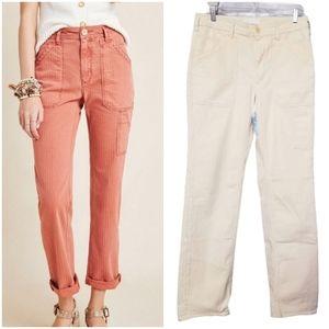 Anthropologie Cream/Beige Utility Pants